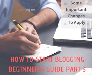 Setting up your blog properly for a beginner