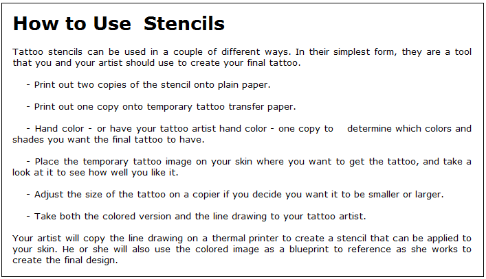 How to use tattoo stencils