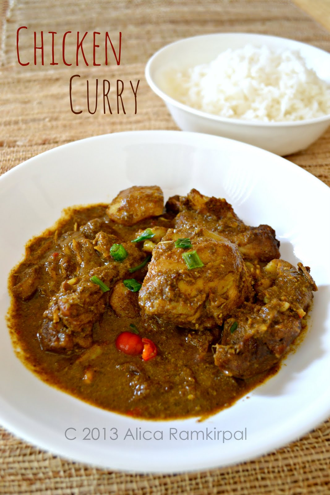 057a915b8152 Chicken curry in particular is such a staple in a (meat-eating) Guyanese  home that you would think it ...