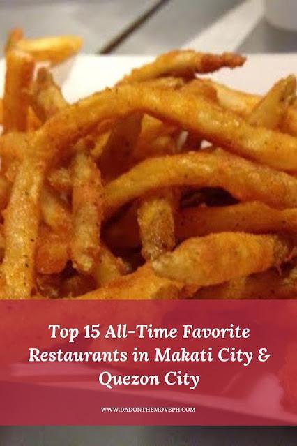 Top restaurants in Makati City and Quezon City