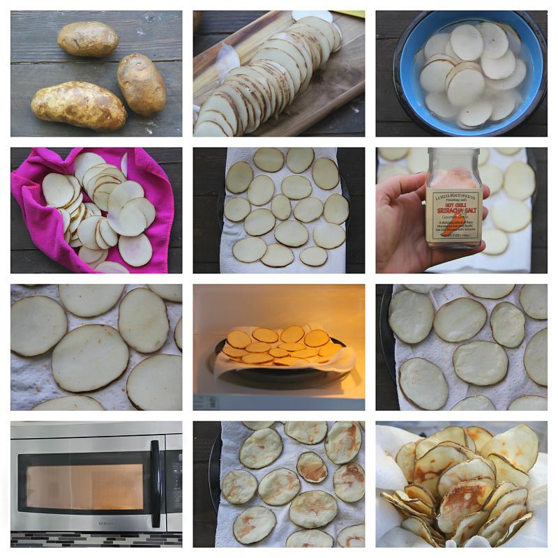 Microwave Potato Chips step by step