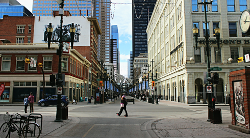 stephen avenue downtown calgary alberta