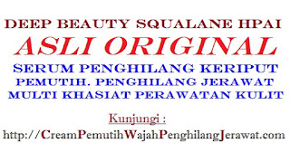Jual serum deep beauty squalane hpai asli original pemutih+anti kerutan herbal