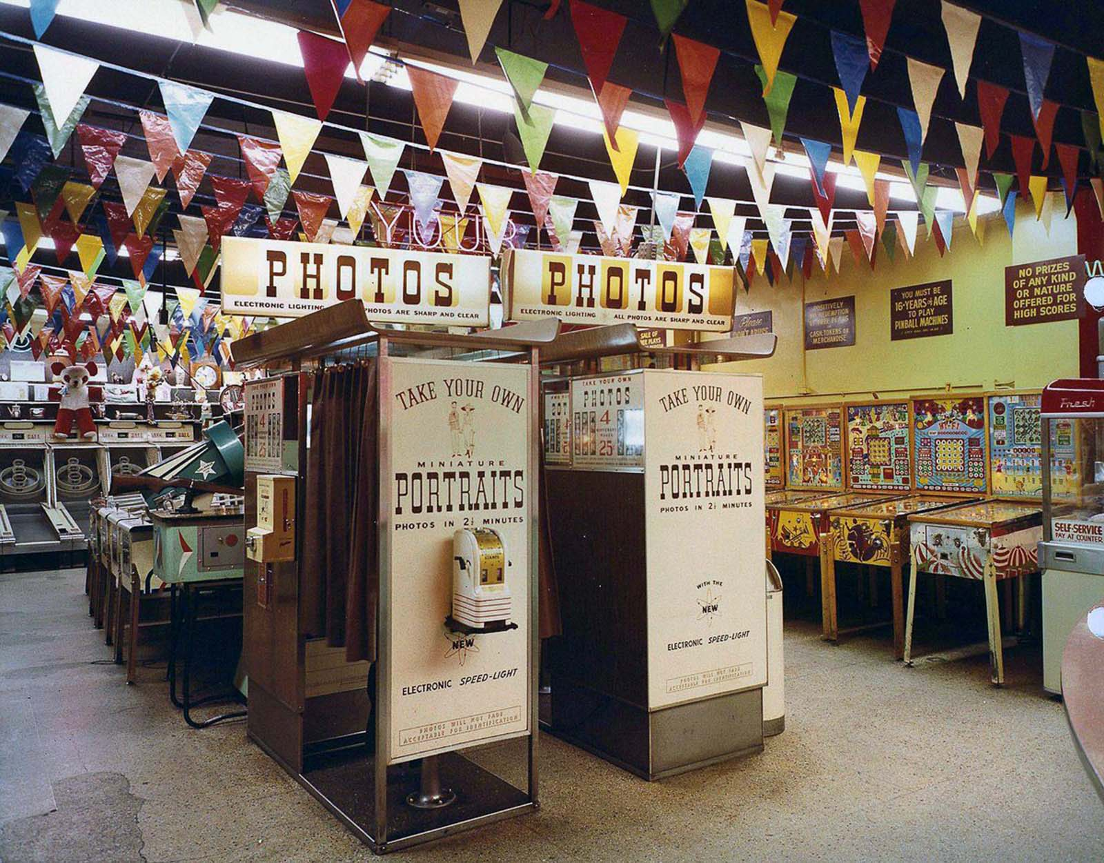 Most arcade games are video games, pinball machines, electro-mechanical games, redemption games or merchandisers.
