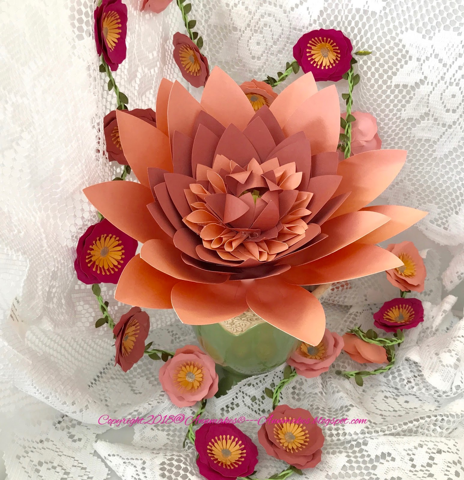 Annmakes pretty paper flowers with leisure arts cricut and testors one of the reasons being that there are projects with svg downloadable files to make paper flowers using the cricut maker mightylinksfo