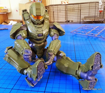 Halo Master Chief John Level 3 Bandai SpruKit waist ankle knee articulation