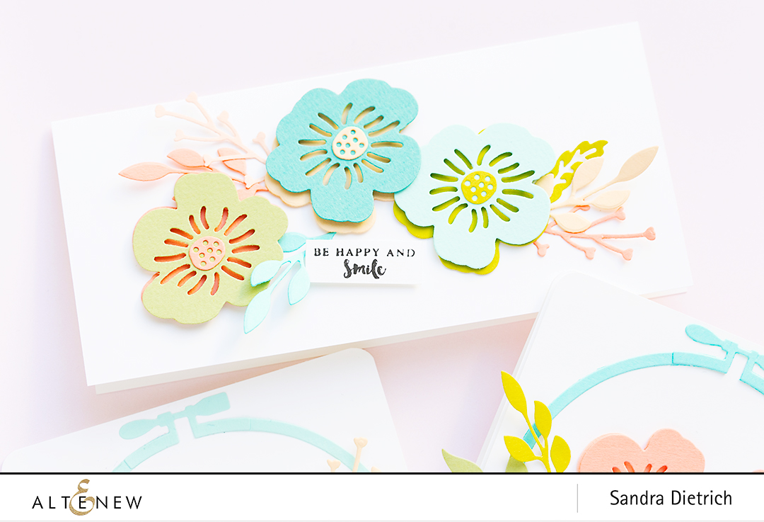 Altenew | Spring Cardmaking | Layered Floral Elements Die | Rectangle Card