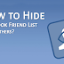 Facebook How to Hide Friends List