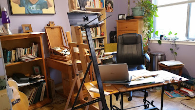 Art studio of Artist David Borden. An introvert paradise