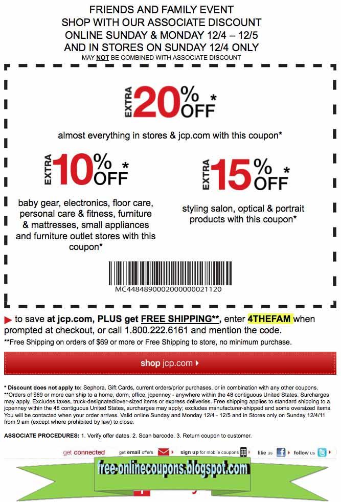 Jcp coupon codes april 2018