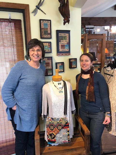 Visiting with Rachel Perkal owner of Epilogue: A Store of Extraordinary Things in Long Grove, Illinois.