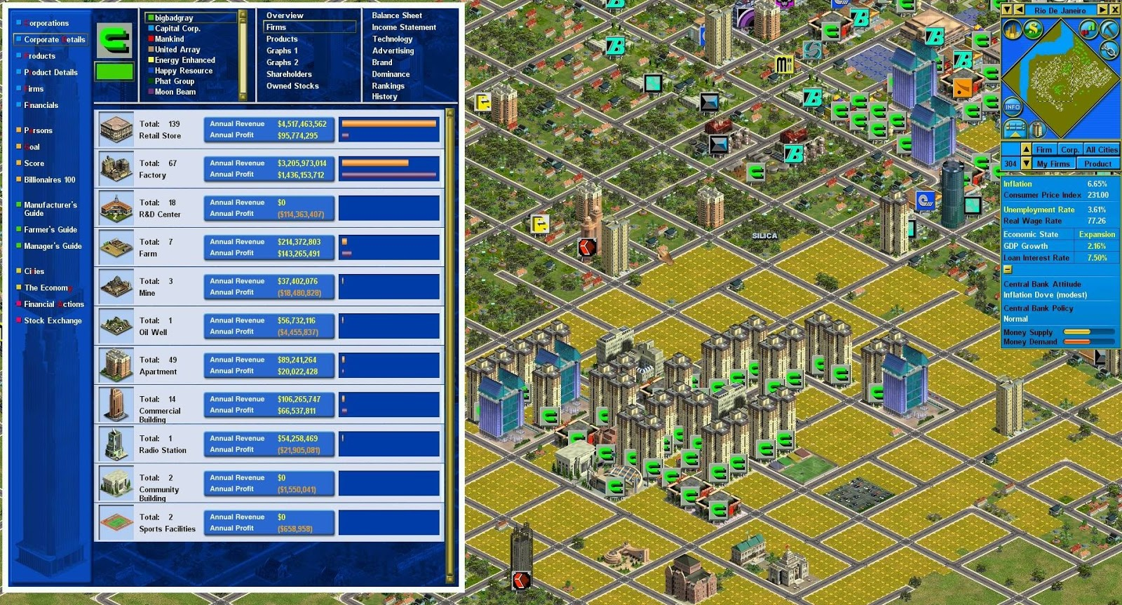 Download & play capitalism ii a online game at fupa games.