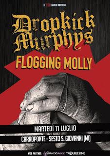 Flogging Molly, Concierto, Milán,