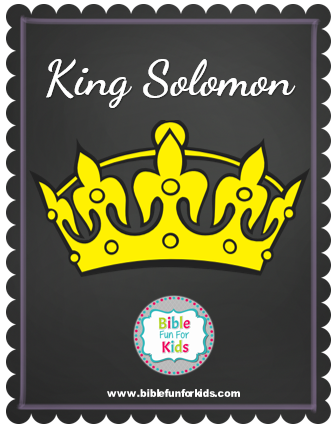 Bible fun for kids 3 1 king solomon for King solomon crafts for preschoolers