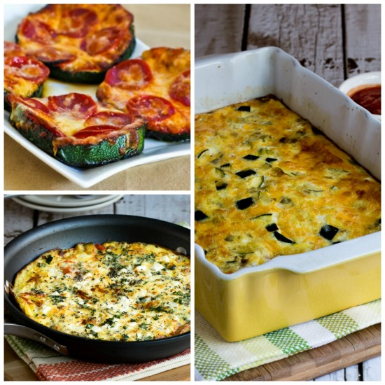 Ten Low-Carb Recipes to Make With Oversized Zucchini found on KalynsKitchen.com