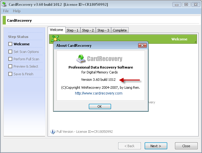 card recovery with serial key free download