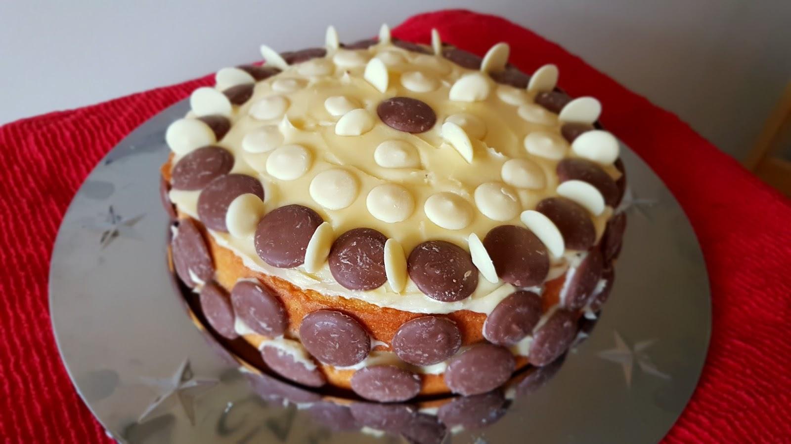 RAW Baking Chocolate button birthday cake