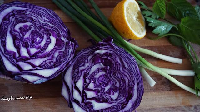 kırmızı mor lahana salatası