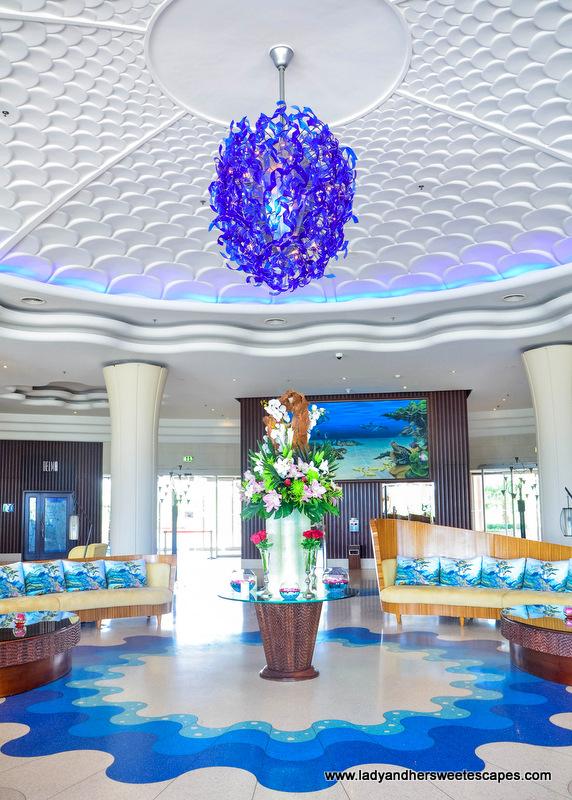 Danat Jebel Dhanna ocean-theme hotel lobby