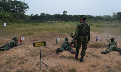 Asah Kemampuan, Kodim 0710/Pekalongan Latihan Menembak