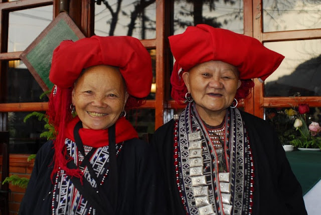 Red Dzao people in Ta Phin Village, Sapa