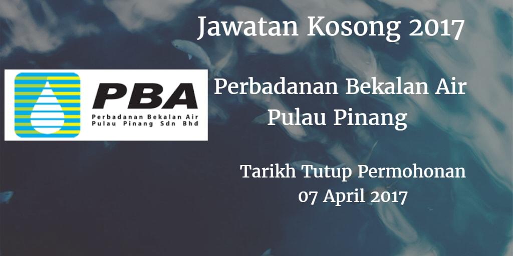 Jawatan Kosong PBA 07 April 2017