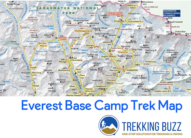 Everest Base Camp Trek Map