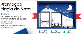Cadastrar Promoção Samsung Natal 2016 Magia do Natal