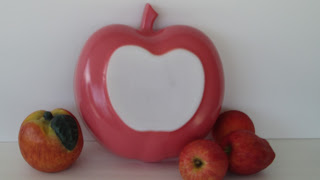 Apple Salad Bowl Coral Pink Bottom View