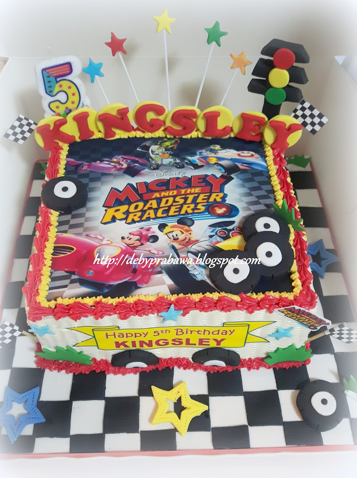 Butterfly Cake Mickey Roadster Racers Cake