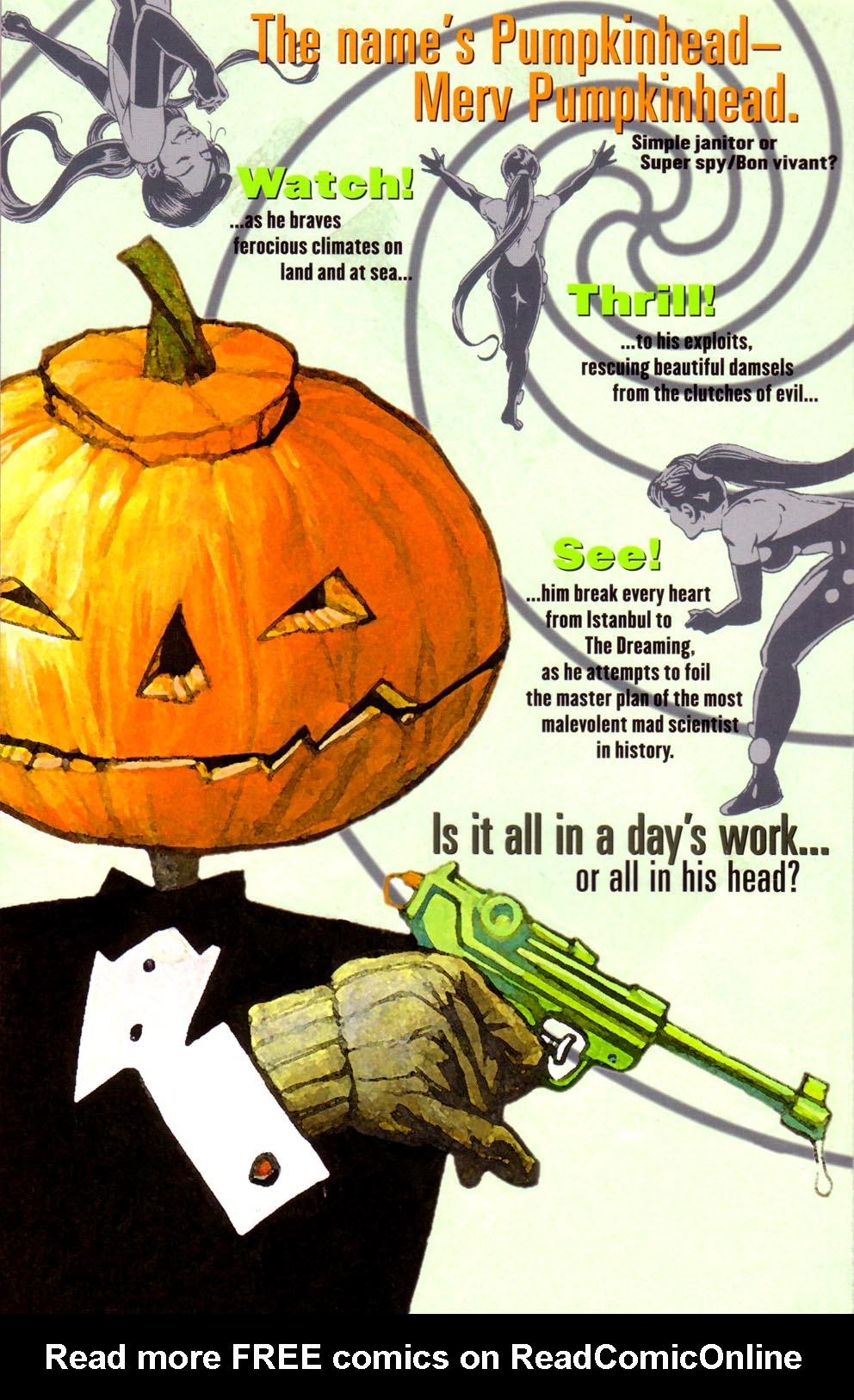 Read online Merv Pumpkinhead, Agent of D.R.E.A.M. comic -  Issue # Full - 50