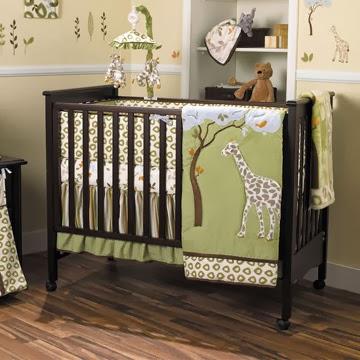dormitorio para bebé tema jirafas