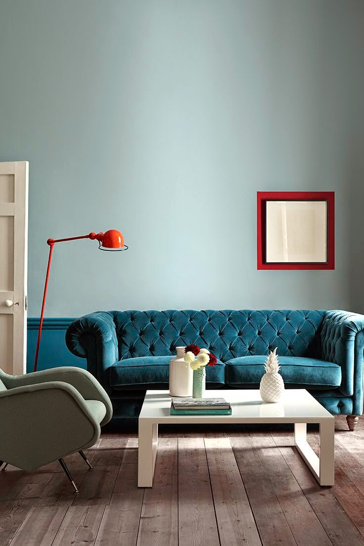 Experimenting With New Colour Combinations Liven Up Your Duck Egg Orange Teal