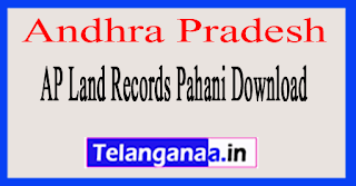 Andhra Pradesh AP Land Records Pahani Download at meebhoomi.ap.gov.in