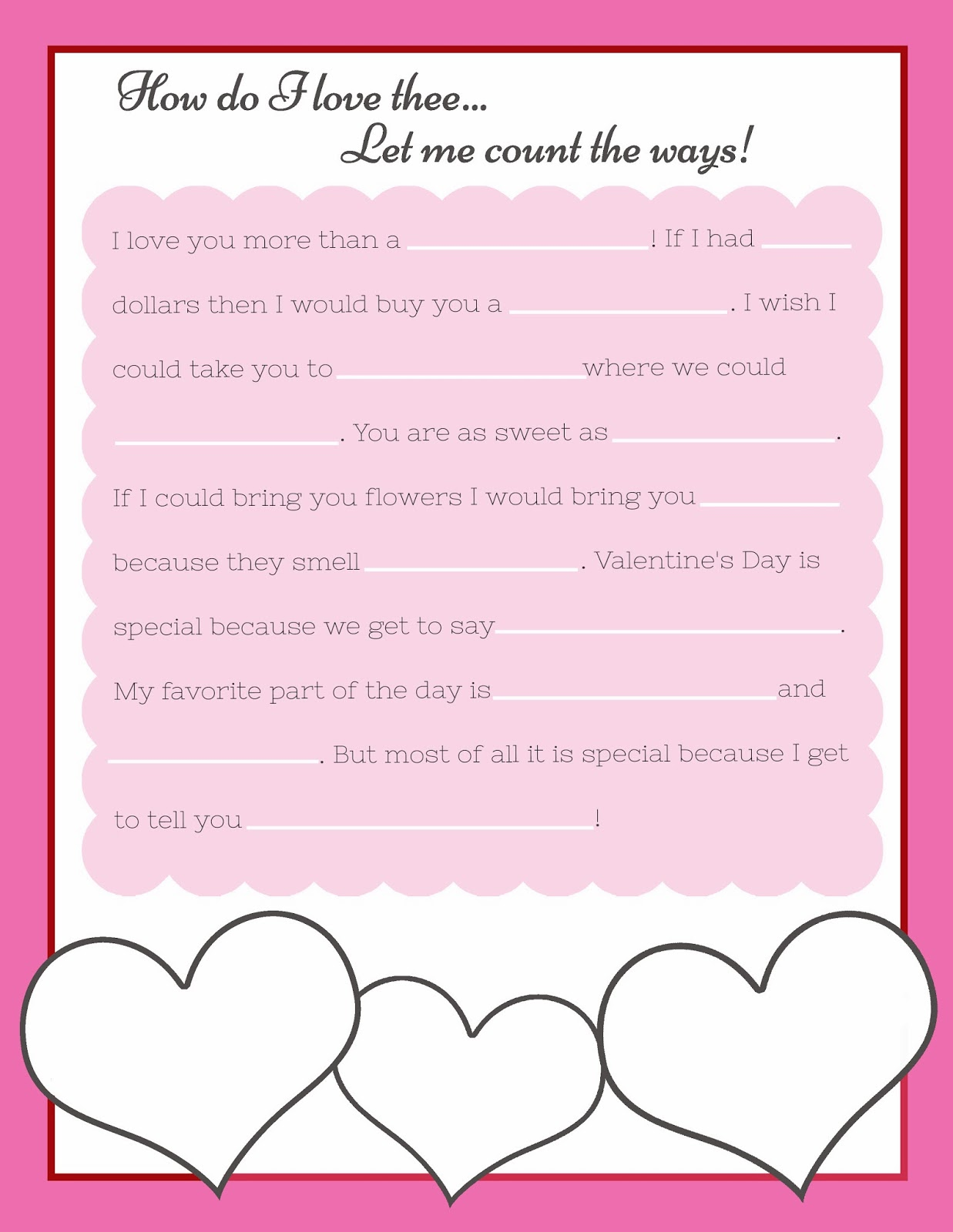 Top 10 Free Valentine Mad Libs Games Printable