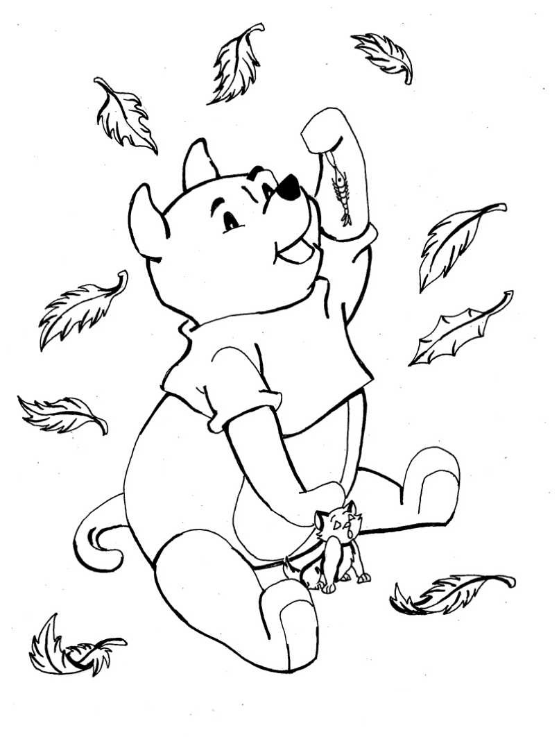 fall leaves coloring pages kindergarten - photo#20