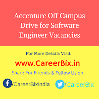 Accenture Off Campus Drive for Software Engineer Vacancies
