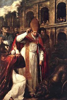 Gentileschi's painting San Gennaro nell'Anfiteatro