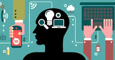 silueta de emprendedor digital