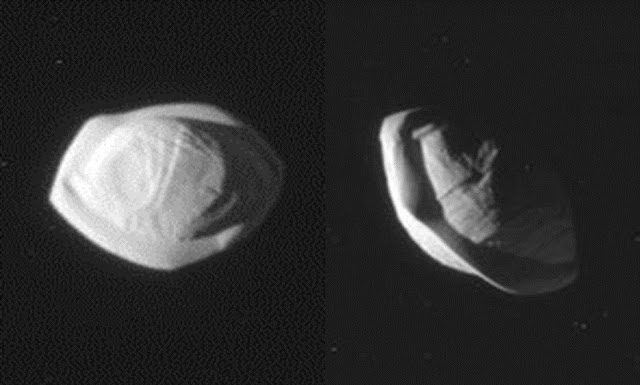 Cassini spacecraft reveals Saturn's 'Flying Saucer' Moon Pan  Saturn%2Bmoon%2Bpan%2Bflying%2Bsaucer%2Baliens%2B%25281%2529