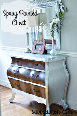 http://www.savvyapron.com/chest-makeover-with-spray-paint/