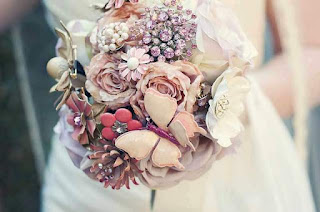 artificial silk wedding bouquets