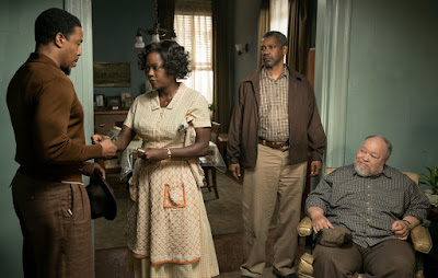 Denzel Washington, Viola Davis, Stephen Henderson and Russell Hornsby in Fences (23)