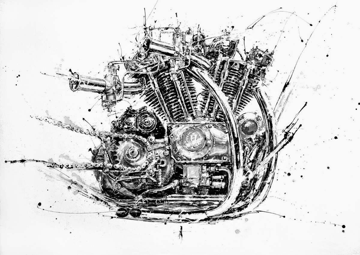Racing Cafe Motorcycle Art