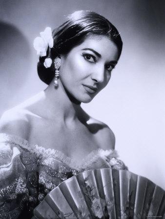 María Callas y su abanico
