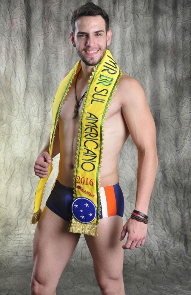 Leonardo Falesi, o Mister Brasil Sul Americano 2016. Foto: Roberto Silva