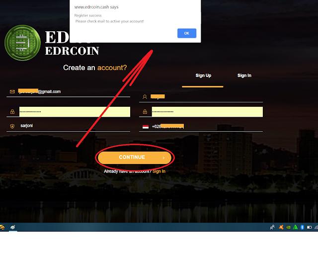 Panduan Cara Dapat profit berlipat dari EDRCoin