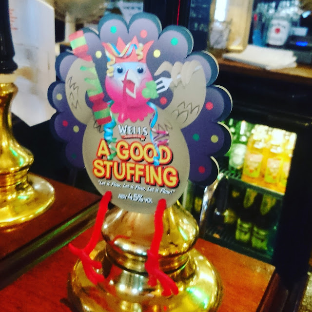 A Good Stuffing from Charles Wells pump clip real ale