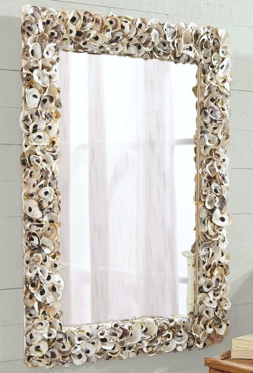 Rectangular Oyster Shell Wall Mirror