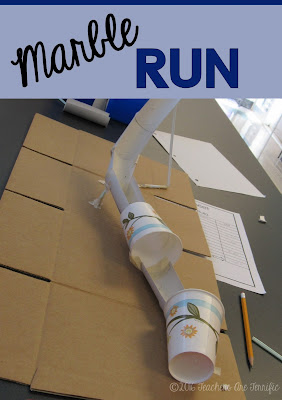 STEM Challenge Mystery Build: Each team builds something different. They must choose the materials needed for the task and stay within a budget! A marble run is one of the tasks! FREEBIE!